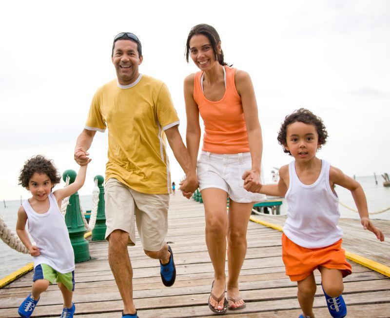 Famille en vacances