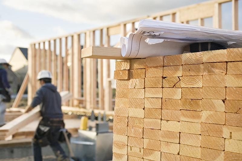 chantier de maisons neuves