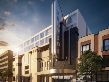 Snowdon Theatre - New condos in Cote-des-Neiges with model units with elevator near a train station with pool
