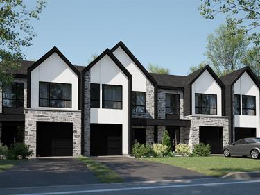 Les Jardins du Coteau - Maisons de ville par Habita Nord-Est - Maisons neuves dans Lanaudière avec garage