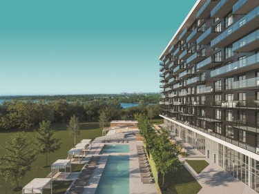 Symphonia SOL - New condos in Nuns' Island in delivery with elevator with pool: $300 001 - $350 000
