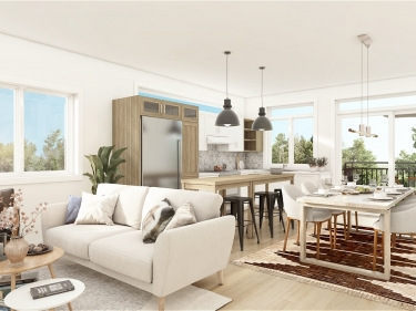 Le De Lille - New condos in Ahuntsic in presale with model units with elevator with pool: $450 001 - $500 000
