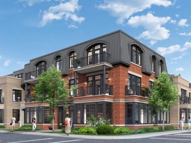 Le Charlebois - New condos in Dollard-des-Ormeaux in delivery with elevator with pool: 3 bedrooms
