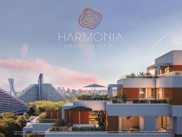 Harmonia - New condos in Mercier with model units with elevator near a train station with pool