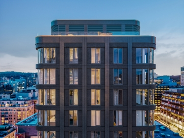 Mansfield Condos - New condos in Montreal registering now move-in ready with elevator with outdoor parking with pool