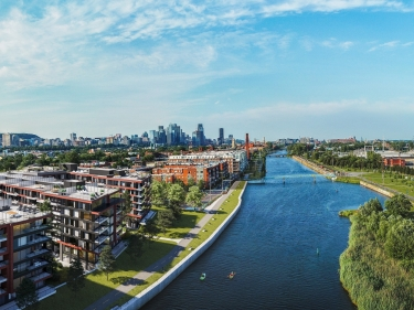 Galdin - Townhouses on the Canal - New houses in Saint-Henri move-in ready with elevator with outdoor parking with pool