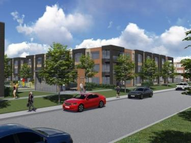 Les Cours de la Gare St-Hubert - New condos in Saint-Basile-le-Grand: < $150 000
