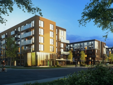 Quartier Greenwich - Square Equinox Phase 3 - New condos in Pointe-Claire with elevator with outdoor parking with pool
