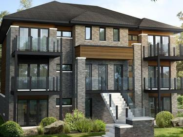 Les Condos du Ruisseau - New condos in Sainte-Marthe-sur-le-Lac currently building with pool
