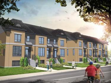Val-des-Ruisseaux - maisons de ville par le Groupe Quorum - Maisons neuves à Laval