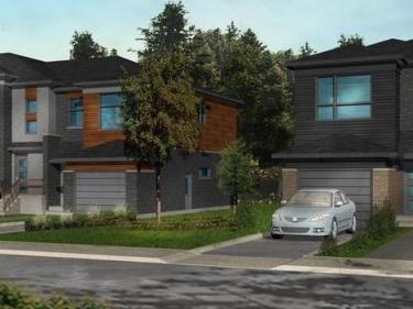 Symbiocité - maisons de ville par Les Habitations Deschênes et Pépin - Maisons neuves sur la Rive-Sud avec unités modèles