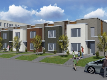 Les Cours de la Gare Longueuil - maisons de ville for rent - New houses in Longueuil near a train station