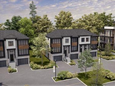 Plateau Blainville - Maisons de ville - Maisons neuves sur la Rive-Nord en construction