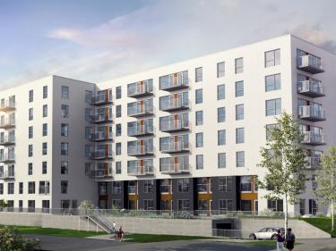 Faubourg Contrecoeur - phase 6 - Condos neufs dans Tétreaultville avec ascenseur avec Piscine