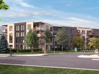 Le Trianon - phase 3 - New condos in Saint-Laurent with elevator with pool: 1 bedroom