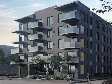 Gare du Canal 2 - New condos in LaSalle with model units with elevator near a train station with pool: 2 bedrooms