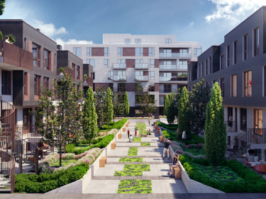 TAK Village - condos - New condos in Montreal in delivery with elevator with pool: 4 bedrooms and more