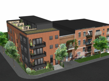 The Hadley - New condos in Verdun with elevator with garage with pool: $350 001 - $400 000