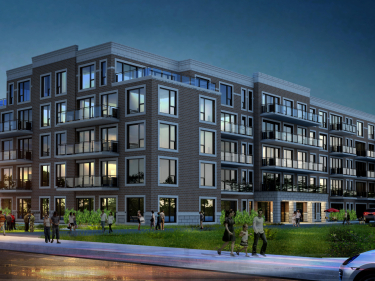 Le Winston - New condos in Dollard-des-Ormeaux with model units with elevator near a train station with pool