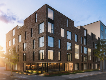 Queen Alix - New condos in Ahuntsic with model units with elevator with pool: 3 bedrooms