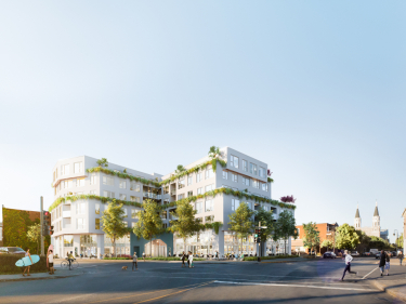 Origine Condos - New condos in Saint-Laurent with model units with pool: 4 bedrooms and more