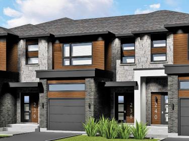BÉA Lumicité - maisons de ville - Maisons neuves à Longueuil en prévente en livraison: 2 chambres